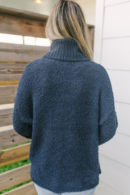 Turtleneck Snuggle Soft Sweater - Navy