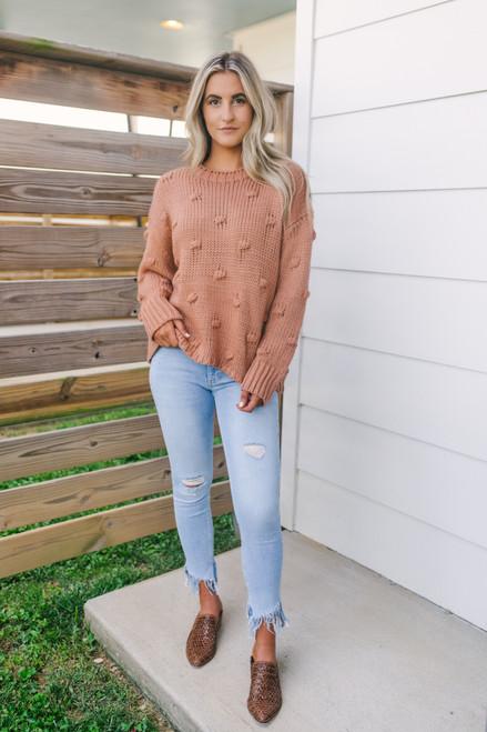 Colorado Sun Pom Pom Sweater - Ginger