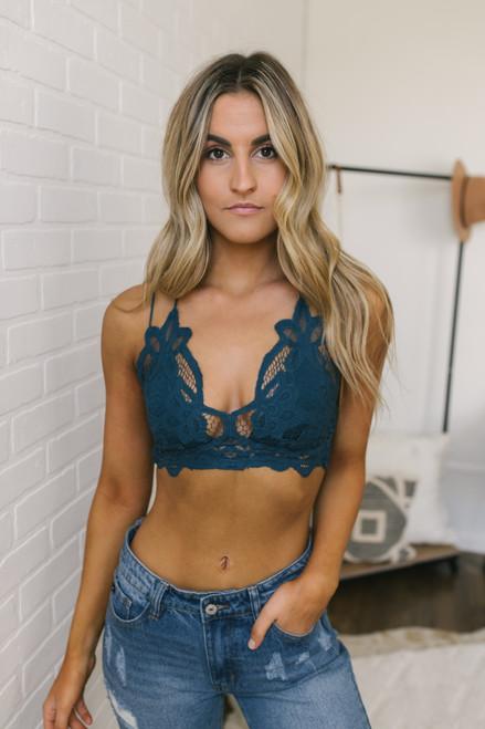 Free People Adella Bralette - Turquoise