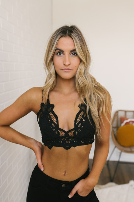 Free People Adella Bralette - Black