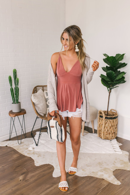 Free People Never Let You Go Tank - Terracotta