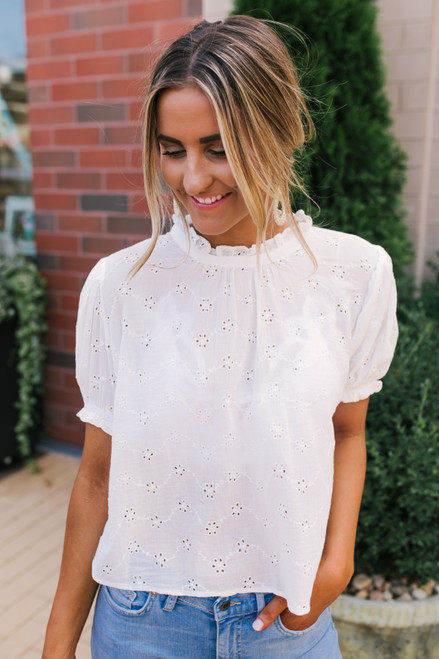 Free People Letters to Juliet Blouse - Ivory - FINAL SALE