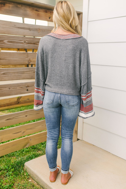 Free People Cooper Pullover - Heather Grey