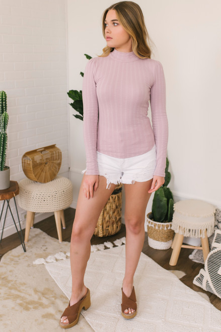 Free People Party in the Back Top - Barely Lilac - FINAL SALE