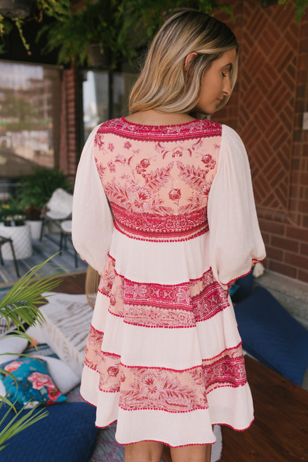 Free People My Love Mini Dress - Pink  -  FINAL SALE