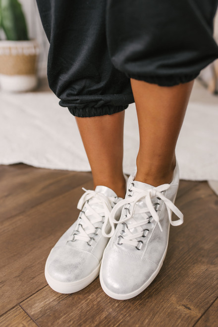 Matisse Relay Metallic Sneakers - Silver - FINAL SALE