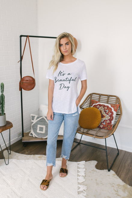 It's a Beautiful Day Graphic Tee - White - FINAL SALE