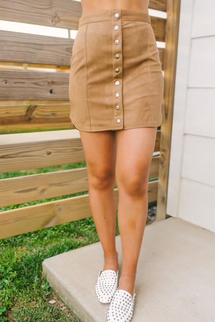 BB Dakota Alright Alright Skirt - Whiskey