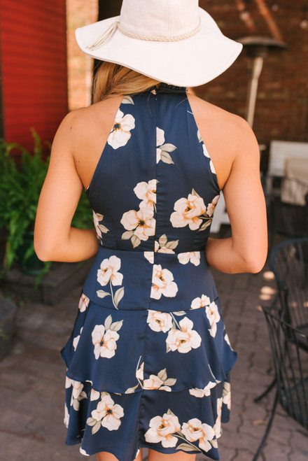 BB Dakota Gardenia Party Dress - Navy  - FINAL SALE