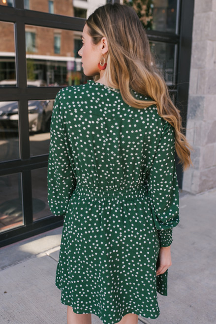 BB Dakota Don't Call Me Ditsy Dress - Cypress Green - FINAL SALE