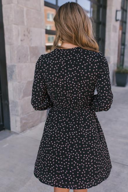 BB Dakota Don't Call Me Ditsy Dress - Black - FINAL SALE