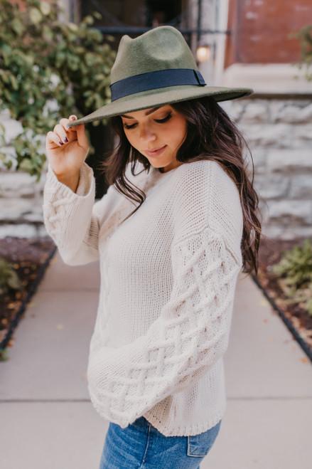 BB Dakota Retro Active Sweater - Ivory - FINAL SALE