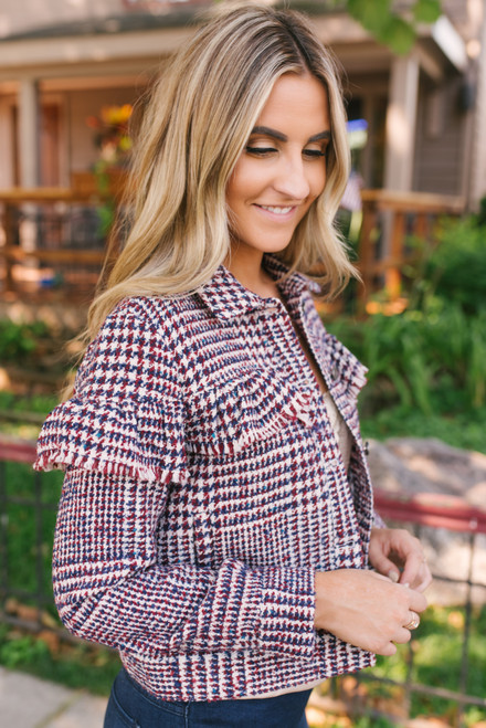 Jack by BB Dakota You Better Work Jacket - Multi - FINAL SALE