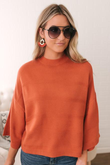Jack by BB Dakota Tune in Drop Out Sweater - Burnt Orange