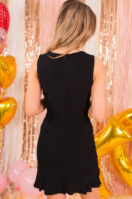 Jack by BB Dakota Ruched Behavior Black Dress