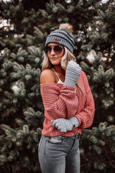 Wildwood Forest V-Neck Sweater - French Rose