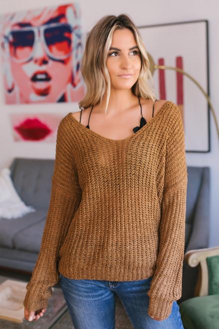Wildwood Forest V-Neck Sweater - Irish Gold