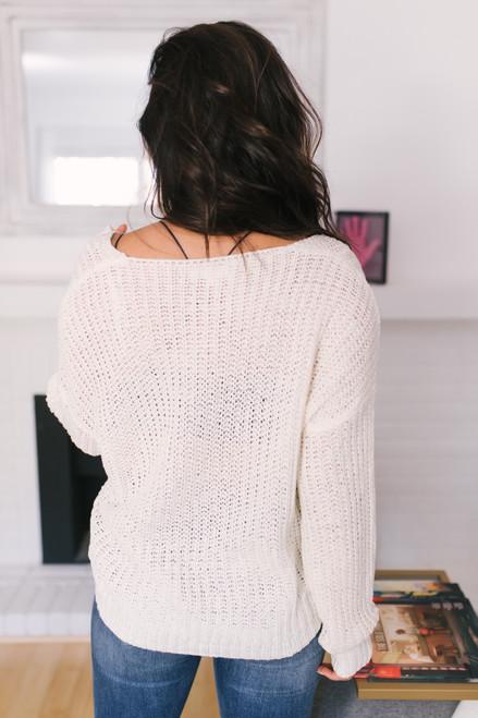 Wildwood Forest V-Neck Sweater - Ivory
