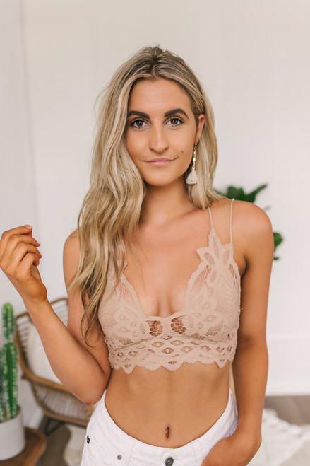 Free People Adella Bralette -Nude  - FINAL SALE
