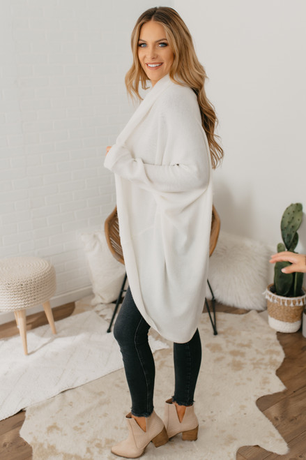 BB Dakota Long Story Cardi - Ivory