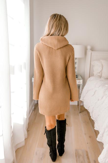 BB Dakota Couldn't Be Sweater Dress - Camel - FINAL SALE