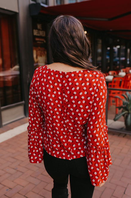Jack by BB Dakota Drive Me Daisy Top - Red - FINAL SALE