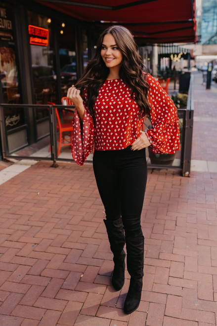 Jack by BB Dakota Drive Me Daisy Top - Red