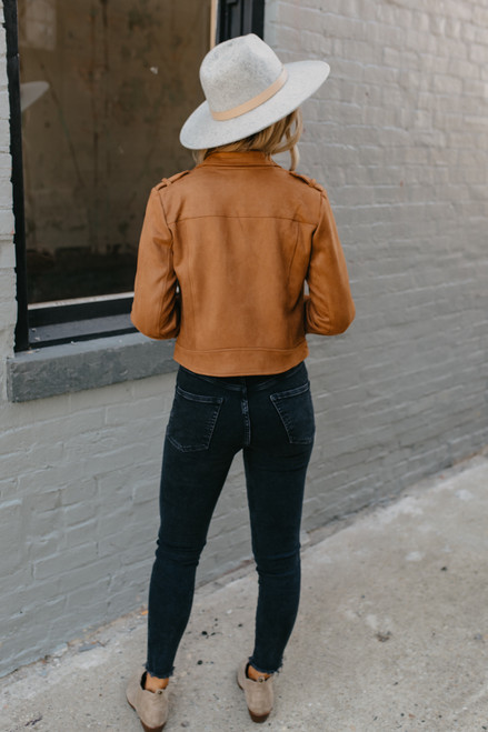 Jack by BB Dakota Open Mic Night Moto Jacket - Camel