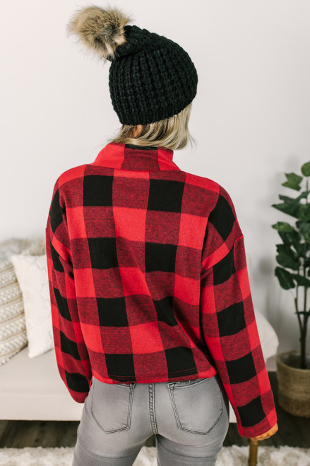 BB Dakota Gimme Your Best Shot Pullover - Rouge/Black