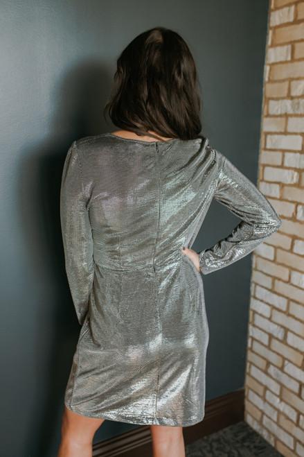 BB Dakota What's Your Shine Dress - Gunmetal