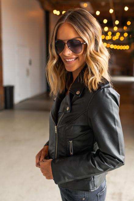BB Dakota Just Ride Black Moto Jacket