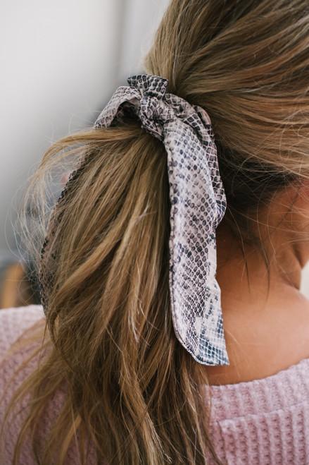 Snakeskin Hair Tie Scrunchie