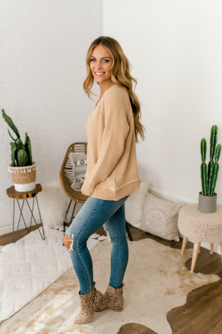Sunbeam V-Neck Sweater - Gold