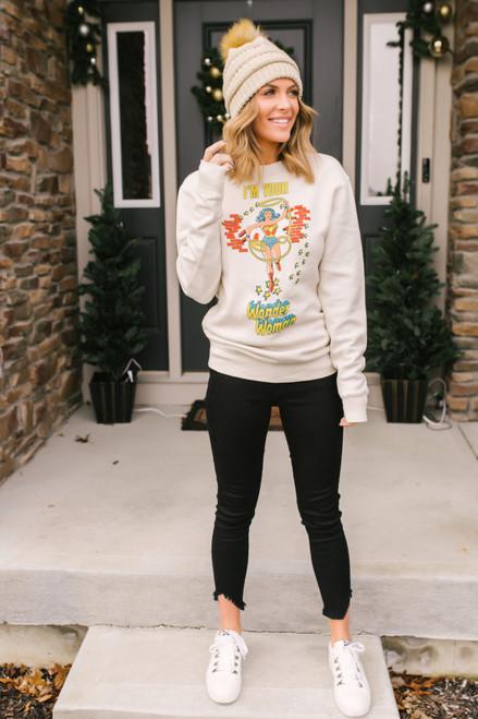Junk Food Wonder Woman Sweatshirt - Off White