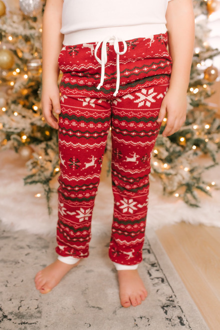 Kid's Christmas Joggers - Red