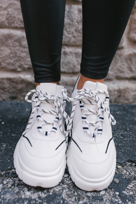 Dirty Laundry Britney Sneakers - White - FINAL SALE