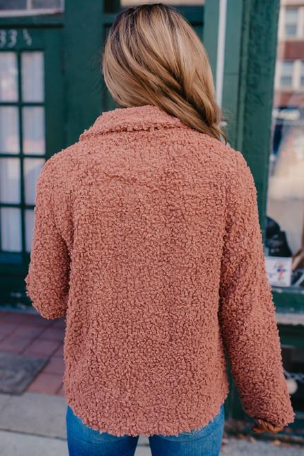 Uptown Market Boucle Jacket - Persimmon