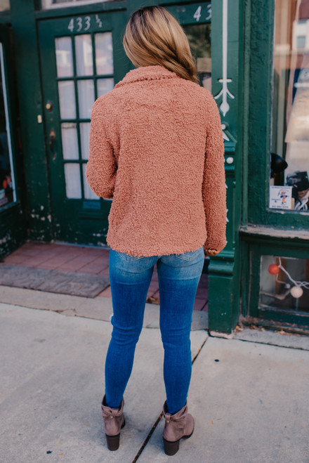 Uptown Market Boucle Jacket - Persimmon - FINAL SALE