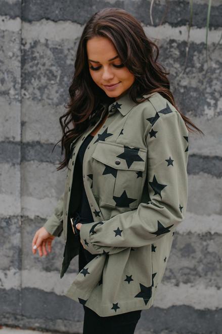 Star Cargo Jacket - Olive/Black