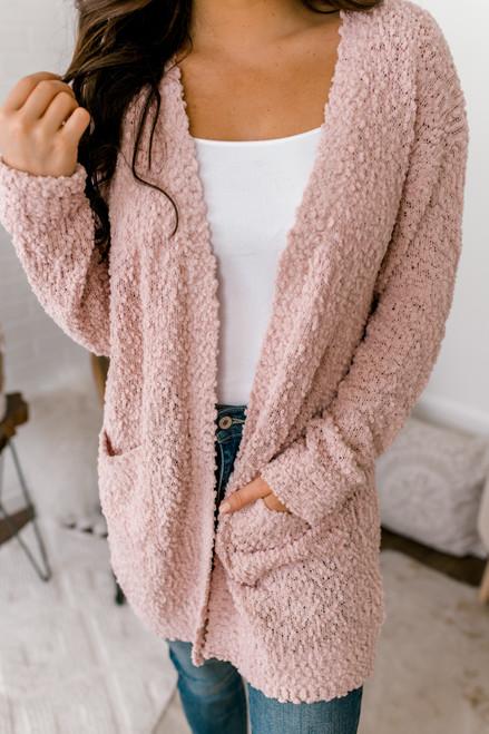 Sweet Splendor Wubby Pocket Cardigan - Pink