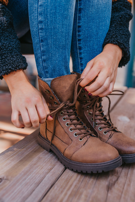 Colonel Sanders Hiker Boots - Tan - FINAL SALE