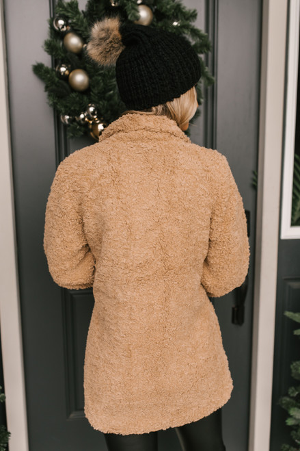 Everly Teddy Coat - Taupe