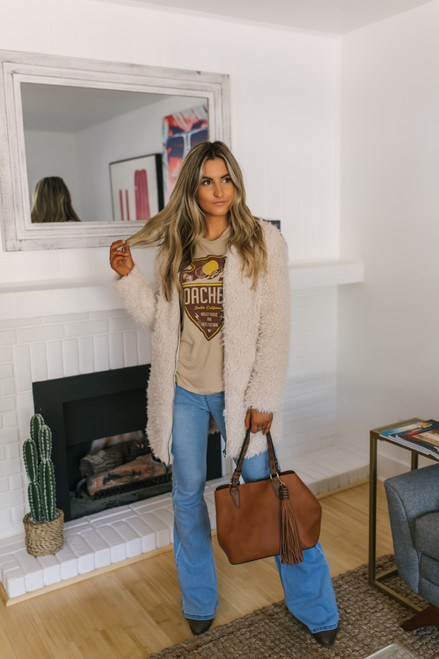 Pull On Flare Jeans - Light Wash