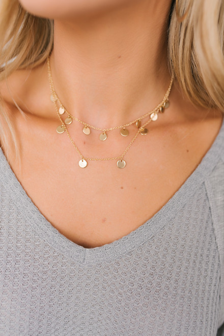 Athena Layered Coin Necklace - Gold
