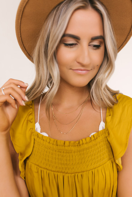 Cassandra Layered Dainty Necklace - Gold