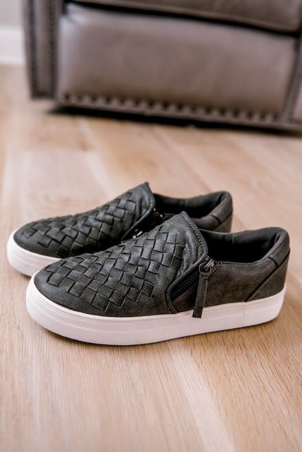 Not Rated Tiffani Sneakers - Charcoal - FINAL SALE