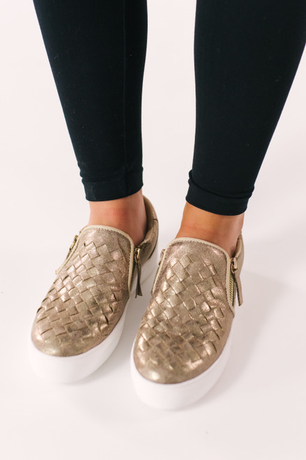 Not Rated Tiffani Sneakers - Gold - FINAL SALE