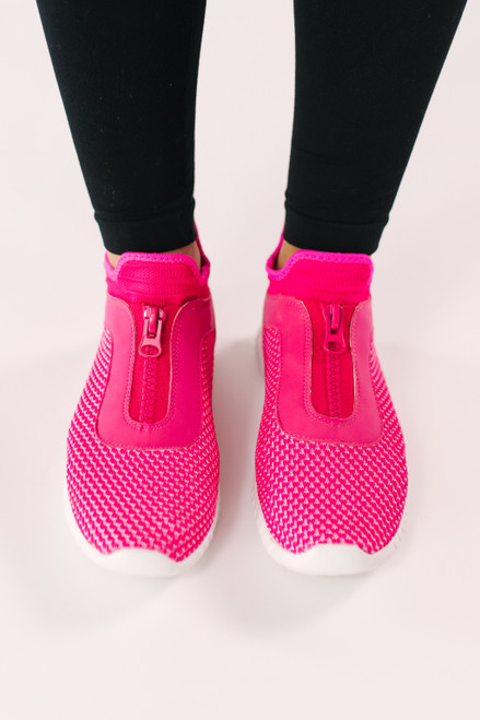 Dirty Laundry Helium Knit Sneakers - Hot Pink - FINAL SALE