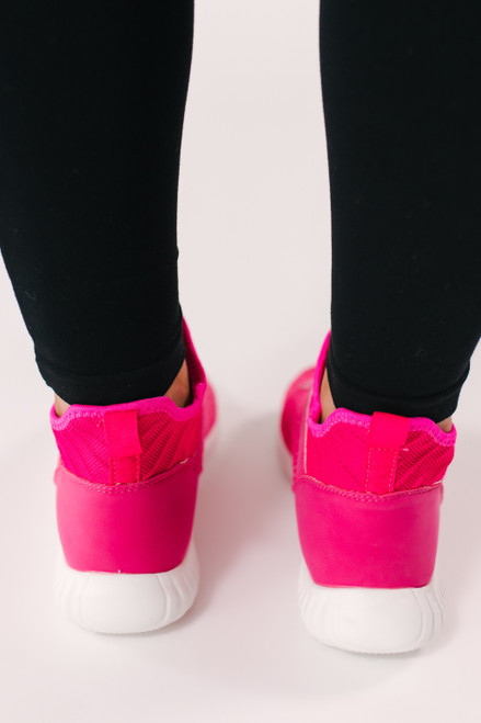Dirty Laundry Helium Knit Sneakers - Hot Pink