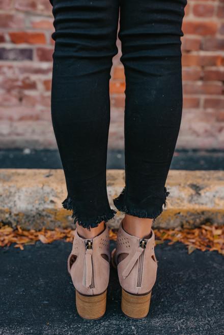 Dirty Laundry Tessa Peep Toe Booties - Camel - FINAL SALE